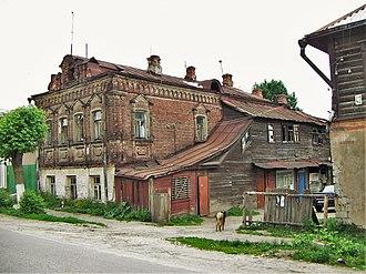 Pavlovsky Posad - A typical house in Pavlovsky Posad