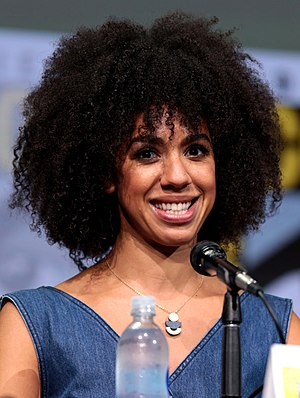 Pearl Mackie - Mackie at the 2017 San Diego Comic-Con