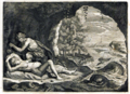 Peleus and Thetis in the cave Engraving from Les Métamorphoses d'Ovide, F. Foppens, Bruxelles 1677 white-balanced.png