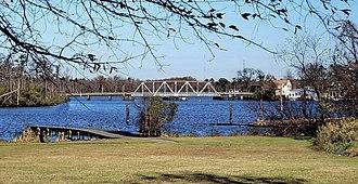 "Perquimans County, North Carolina - Image: Perquimans River and the ""S"" Bridge Hertford, North Carolina"