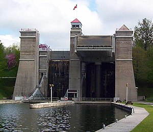 The Peterborough Lift Lock, constructed in 1904.