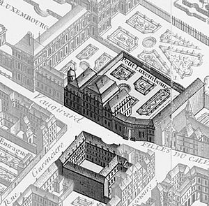 Petit Luxembourg - The Petit Luxembourg on the 1739 Turgot map of Paris