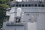 Phalanx CIWS Mk.15 Block 1B mounted on ahead of JS Murasame(DD-101) left front view at JMSDF Yokosuka Naval Base April 30, 2018.jpg
