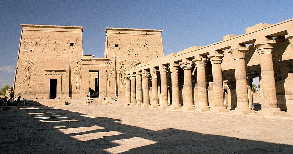 Philae, First Pylon and Columnade, Aswan, Egypt, Oct 2004