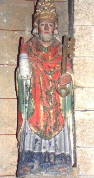 Argol Parish close - Statue of Saint Peter