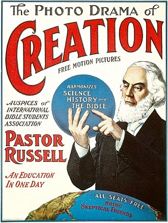 The Photo-Drama of Creation - The Photo-drama of Creation used the recorded voice and moving pictures of Charles Taze Russell in 1912