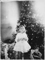 Photograph of Susan Ford (the Daughter of Gerald and Betty Ford) in Front of the Christmas Tree at the Ford Residence... - NARA - 187045.tif