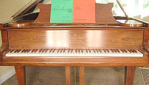 The piano has 52 white keys