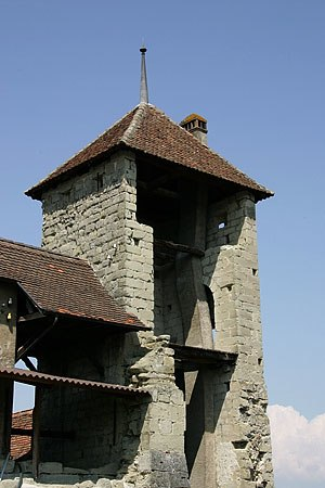 Payerne - A tower of the old city wall