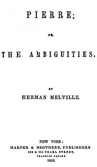 Pierre: or, The Ambiguities cover