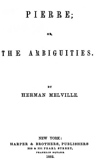 Pierre; or, The Ambiguities - First edition title page