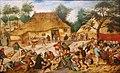 Pieter Brueghel de Jonge - Bruiloftsmaal voor een boerenhuis.jpg