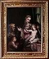 Pietro candido, madonna col bambino, sant'anna e san giovannino, con cornice medicea originale, 1550-60 ca.jpg