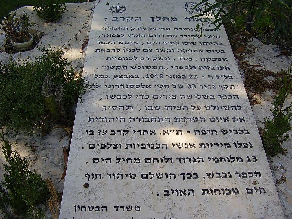 PikiWiki Israel 32296 Alexandroni Brigade memorial in Tantura