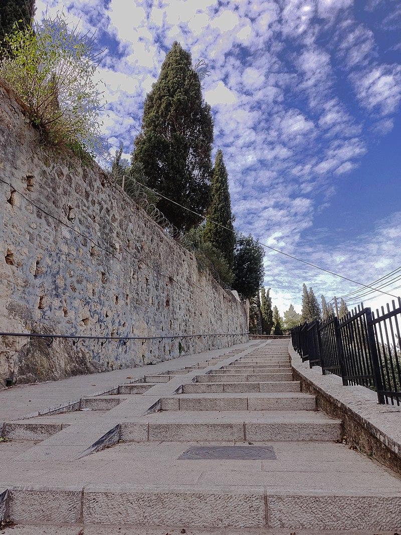 מדרגות כנסיית הביקור