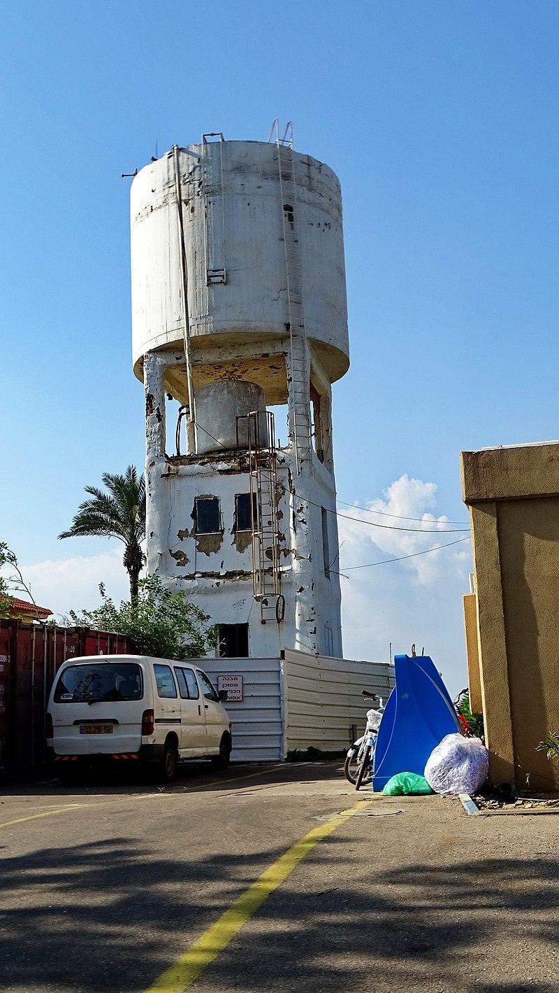 מגדל מים בקיבוץ שדות ים