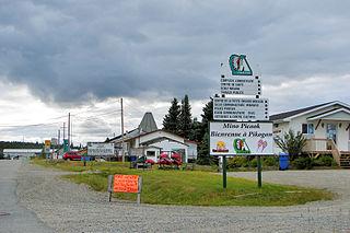 Pikogan Indian reserve of Quebec (Canada)