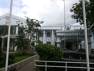 Pili, Camarines Sur - Pili Municipal Hall located at the 'Centro' of the town.