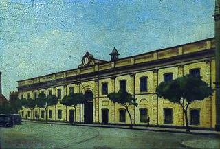 Antigo convento de São Francisco, e mais tarde, Academia de Direito de São Paulo 1920