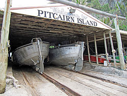Longboats, Pitcairn Islands