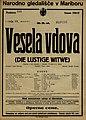 Plakat za predstavo Vesela vdova v Narodnem gledališču v Mariboru 13. marca 1927.jpg
