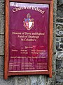 Plaque, St Columbas's Church of Ireland, Omagh - geograph.org.uk - 658393.jpg