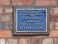 Plaque at Atherstone Station - geograph.org.uk - 211601.jpg