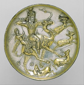 Plate with a hunting scene from the tale of Bahram Gur and Azadeh MET DT1634.jpg