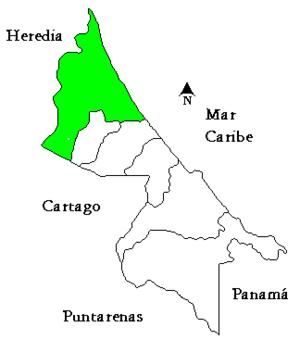 Pococí (canton) - Pococí canton in Limón province