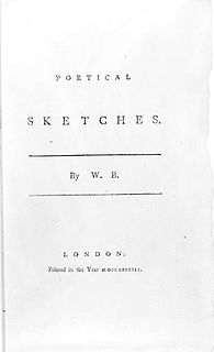 <i>Poetical Sketches</i> collection of poetry by William Blake