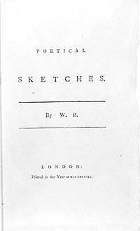 Poetical Sketches cover