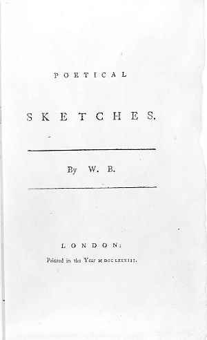 Poetical Sketches - Title page of Poetical Sketches