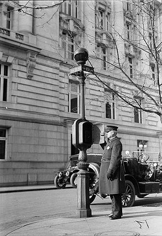 Call box - Police callbox, Washington, D.C., 1912