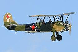 Polikarpov Po2 '28' (G-BSSY) (27608907758).jpg