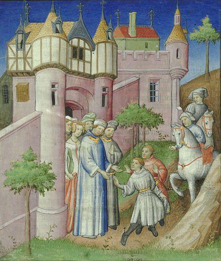 Niccolò et Matteo Polo quittant Constantinople pour l'orient, en 1259.