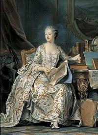 Madame de Pompadour, en un retrato al pastel realizado por Maurice ...