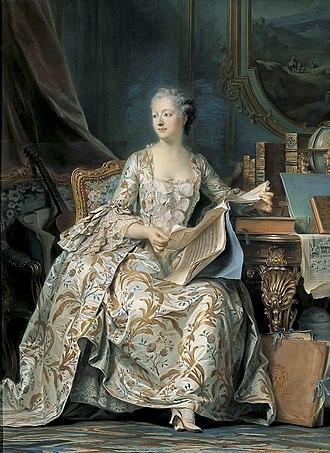 Courtesan - Madame de Pompadour, by Maurice Quentin de La Tour, Louvre Museum, Paris