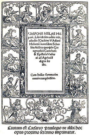 Pomponius Mela - Cover of a 1518 edition