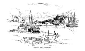 Porlock Weir -  Porlock Weir harbour, as illustrated by Sydney R. Jones in 1908
