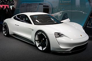 All-electric concept car developed by Porsche