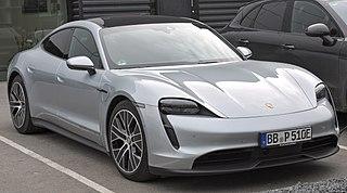Porsche Taycan All-electric car manufactured by Porsche