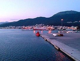 Port of イグメニツァ and city
