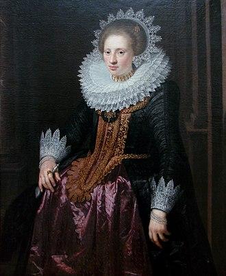 Jan van Ravesteyn - Image: Portrait de femme Jan van Ravesteyn Lille 3118