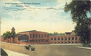 Ansonia, Connecticut - Image: Postcard Ansonia CT Farel Foundry&Machine Co 1917
