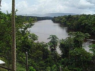 Potaro River - View of Potaro River at Pamela Landing (facing south).