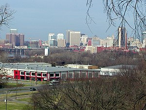 Fulton Hill - View of Richmond skyline from Powhatan Hill Park