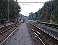 Praha-Klánovice, rekonstrukce zastávky, provizorní nástupiště.jpg