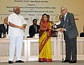 Pratibha Devisingh Patil presenting the INSEE Lifetime Achievement award to Dr. S N Singh, at the International Conference on Innovative Approaches for Agricultural Knowledge Management.jpg