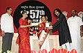Pratibha Devisingh Patil presenting the Rajat Kamal Award to Shri Rupamislam for Best Male Playback Singer (Film Mahanagar@Kolkata), at the 57th National Film Awards function, in New Delhi on October 22, 2010.jpg