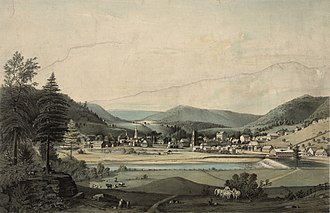 Prattsville (town), New York - An 1844 lithograph of the town